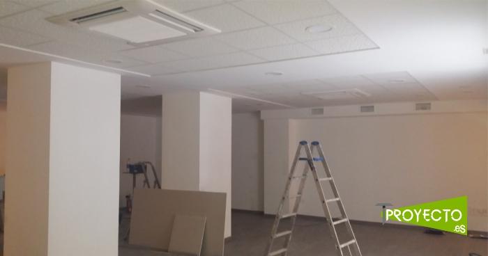 Interior del local durante la reforma con la obra avanzada